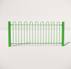栏杆扶手_003_景观设计模型
