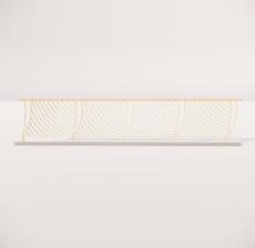 栏杆扶手_004_景观设计模型