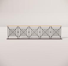 栏杆扶手_005_景观设计模型