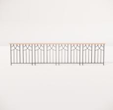 栏杆扶手_006_景观设计模型