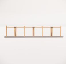 栏杆扶手_007_景观设计模型
