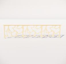 栏杆扶手_008_景观设计模型