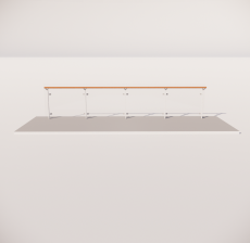 栏杆扶手_009_景观设计模型