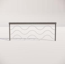 栏杆扶手_010_景观设计模型