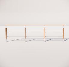 栏杆扶手_011_景观设计模型