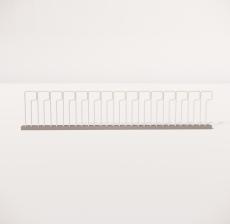 栏杆扶手_012_景观设计模型