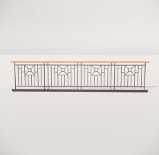 栏杆扶手_013_景观设计模型