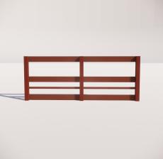 栏杆扶手_014_景观设计模型