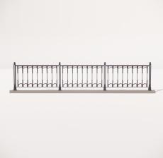 栏杆扶手_015_景观设计模型