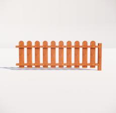 栏杆扶手_016_景观设计模型