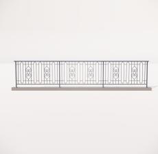 栏杆扶手_017_景观设计模型