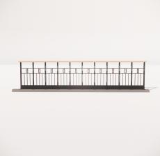 栏杆扶手_018_景观设计模型