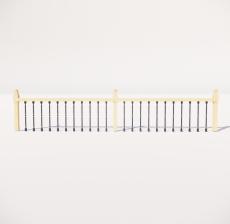 栏杆扶手_020_景观设计模型