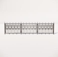栏杆扶手_022_景观设计模型