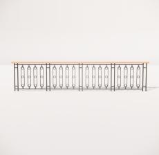 栏杆扶手_023_景观设计模型