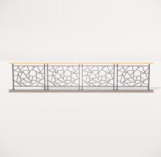 栏杆扶手_024_景观设计模型
