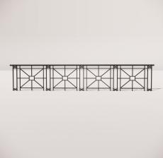 栏杆扶手_027_景观设计模型