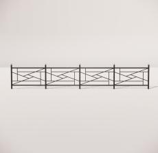 栏杆扶手_028_景观设计模型