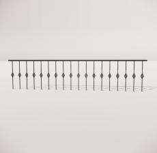 栏杆扶手_029_景观设计模型