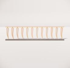 栏杆扶手_032_景观设计模型