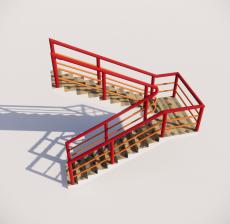 栏杆扶手_033_景观设计模型