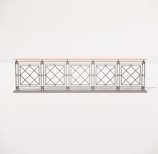 栏杆扶手_034_景观设计模型