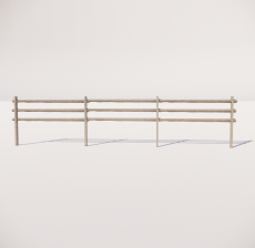 栏杆扶手_035_景观设计模型