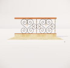 栏杆扶手_037_景观设计模型