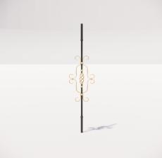 楼梯栏杆柱_002_景观设计模型
