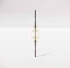 楼梯栏杆柱_005_景观设计模型