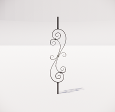 楼梯栏杆柱_006_景观设计模型