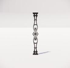 楼梯栏杆柱_007_景观设计模型