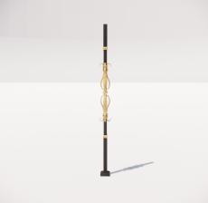 楼梯栏杆柱_008_景观设计模型