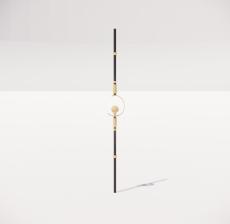楼梯栏杆柱_011_景观设计模型