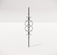 楼梯栏杆柱_014_景观设计模型