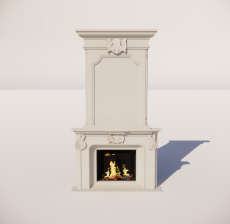 欧式壁炉_002_室内设计模型
