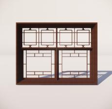 窗_003_室内设计模型