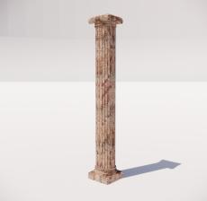 罗马柱_004_景观设计模型