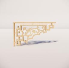 花角线花格_001_室内设计模型