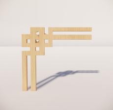 花角线花格_002_室内设计模型