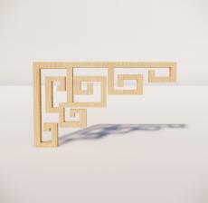 花角线花格_003_室内设计模型