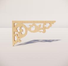 花角线花格_004_室内设计模型
