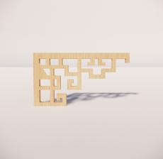 花角线花格_007_室内设计模型