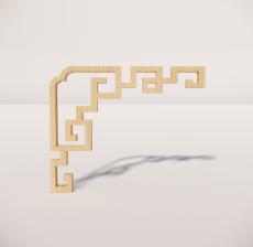 花角线花格_008_室内设计模型