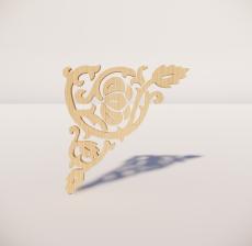 花角线花格_009_室内设计模型