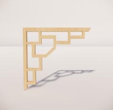 花角线花格_010_室内设计模型