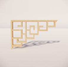 花角线花格_011_室内设计模型
