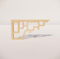 花角线花格_012_室内设计模型