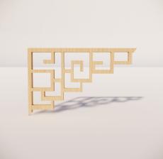 花角线花格_013_室内设计模型