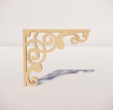 花角线花格_014_室内设计模型